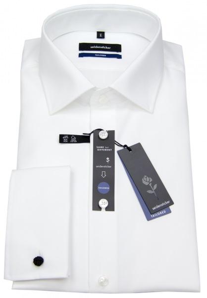 Seidensticker Hemd - Tailored Fit - Umschlagmanschette - weiß - 021006 01