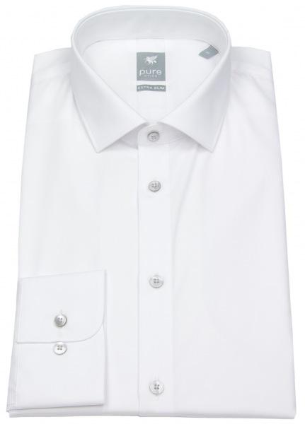 Pure Hemd - Extra Slim - Kentkragen - weiß - 3377 764 900