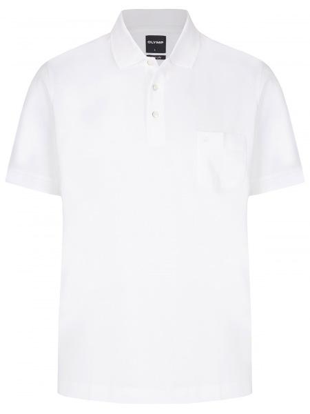 OLYMP Poloshirt - Casual Fit - Piqué - weiß - 5401 52 00