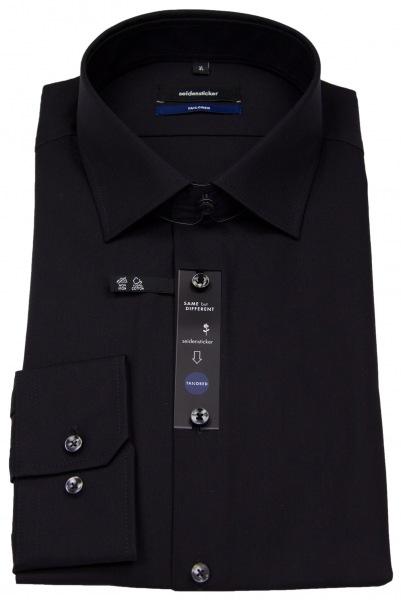 Seidensticker Hemd - Tailored Fit - Kentkragen - schwarz - 021000 84