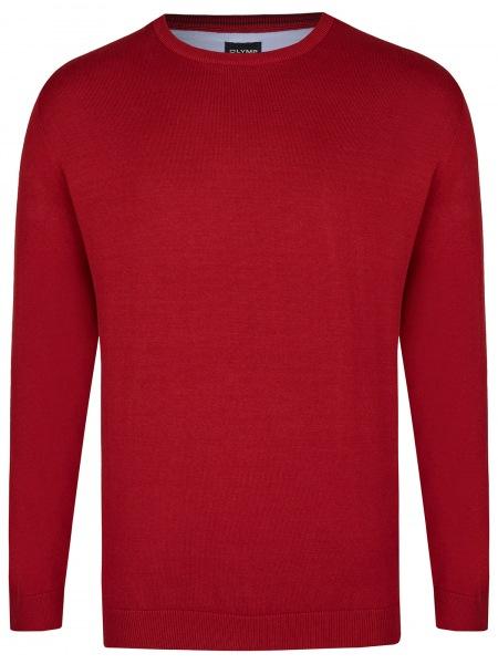 OLYMP Pullover - Rundhals-Ausschnitt - bordeaux - 0160 11 37
