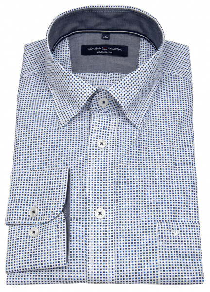 Casa Moda Hemd - Casual Fit - Under Button Down - blau / dunkelblau - 403481700 100