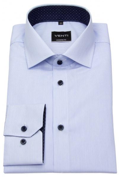 Venti Hemd - Modern Fit - feine Streifen - hellblau / weiß - 193158200 100