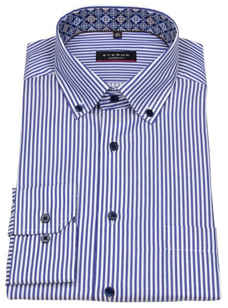 Eterna Hemd - Modern Fit - Button Down - Streifen - blau / weiß - 3884 X14U 16