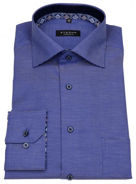 Eterna Hemd - Comfort Fit - Patch - blau / weiß - 3620 E95K 16