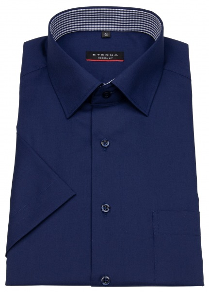 Eterna Kurzarmhemd - Modern Fit - Patch - dunkelblau - 8015 C15P 19