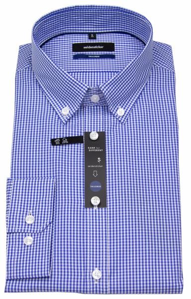 Seidensticker Hemd - Tailored Fit - Button Down - blau / weiß - 01.242632.19