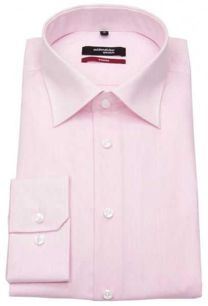 Seidensticker Hemd - Modern Fit - Kentkragen - Chambray - rosé - ohne OVP - 002000 45