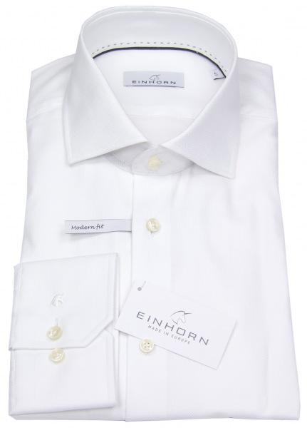Einhorn Hemd - Modern Fit - Hai - Natté - weiß - 903.11320 1
