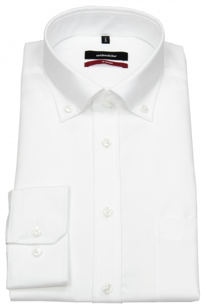 Seidensticker Hemd - Regular Fit - Button-Down Kragen - Fil-a-Fil - weiß - 003002 01