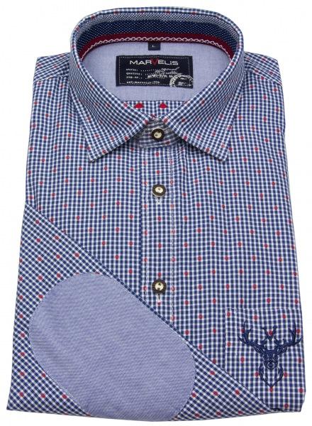 Marvelis Trachtenhemd - blau / weiß kariert - 6904 24 14