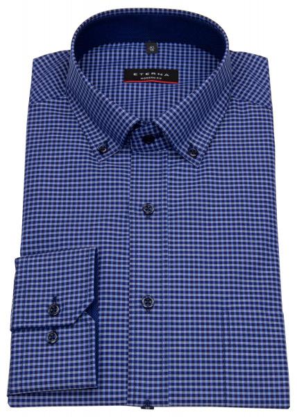 Eterna Hemd - Modern Fit - Button Down - dunkelblau / blau - 8917 X143 09
