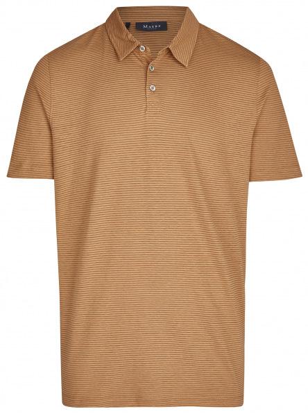 MAERZ Muenchen Poloshirt - Modern Fit - Baumwolle / Leinen - braun - 664901 141