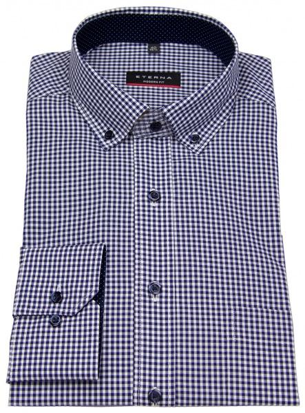 Eterna Hemd - Modern Fit - Button Down - dunkelblau / weiß - 8913 X143 16