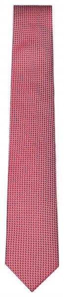 OLYMP Seidenkrawatte - Slim - Struktur - rot / weiß - 1798 00 35