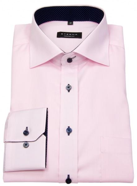 Eterna Hemd - Comfort Fit - Oxford - Kontrastknöpfe - rosé - 8100 E137 50