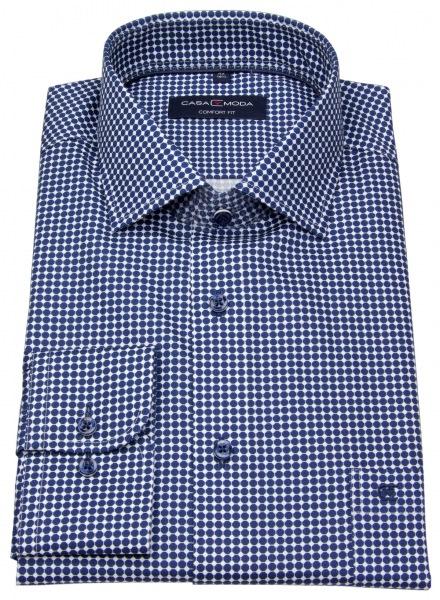 Casa Moda Hemd - Comfort Fit - Print - blau / weiß - 393149900 100