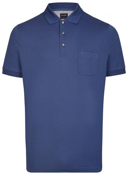 OLYMP Poloshirt - Casual Fit - Piqué - indigo - 5401 52 96