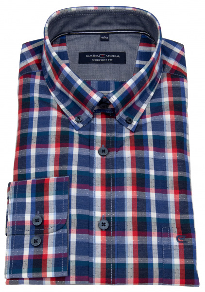 Casa Moda Hemd - Comfort Fit - Button Down Kragen - mehrfarbig kariert - 403543900 100