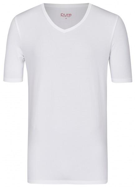 Pure T-Shirt - Slim Fit - V-Ausschnitt - weiß - 3399-92999 900