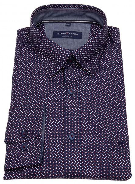 Casa Moda Hemd - Casual Fit - Under Button Down - Print - mehrfarbig - 493262300 401