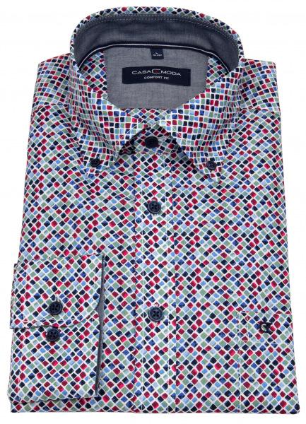 Casa Moda Hemd - Comfort Fit - Button Down Kragen - mehrfarbig - 413636300 100