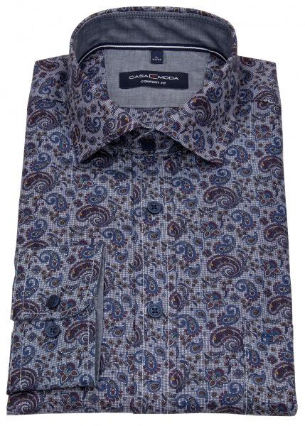 Casa Moda Hemd - Comfort Fit - Print - blau - 413761500 101