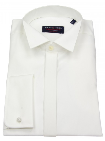 Casa Moda Hemd - Kläppchenkragen - verd. Knopfleiste - champagner - 005350 62