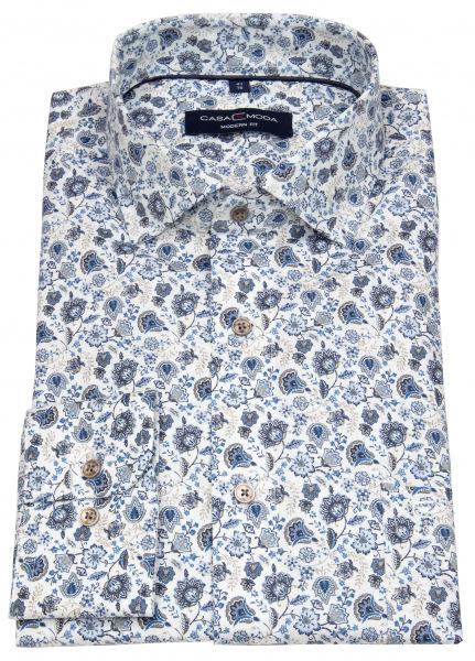 Casa Moda Hemd - Modern Fit - Print - hellblau / beige / weiß - 313610800 100