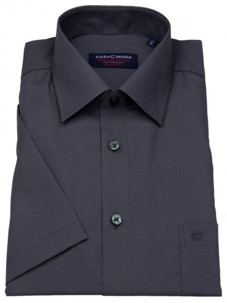 Casa Moda Kurzarmhemd - Comfort Fit - anthrazit - 008070 706