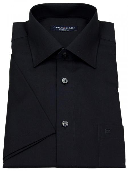 Casa Moda Kurzarmhemd - Comfort Fit - schwarz - 008070 800