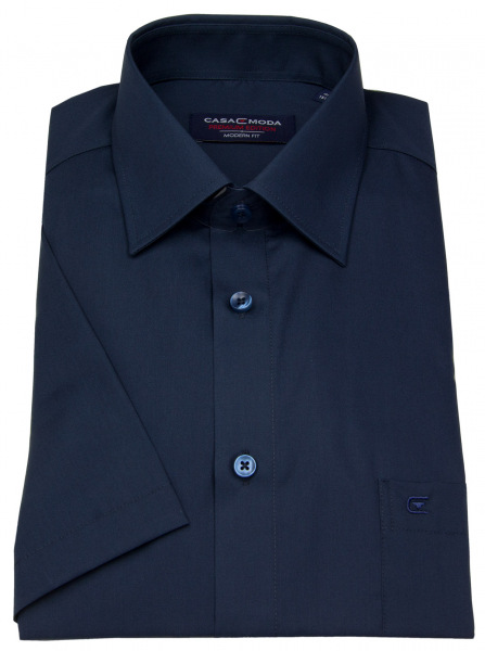 Casa Moda Kurzarmhemd - Modern Fit - dunkelblau - 008530 116