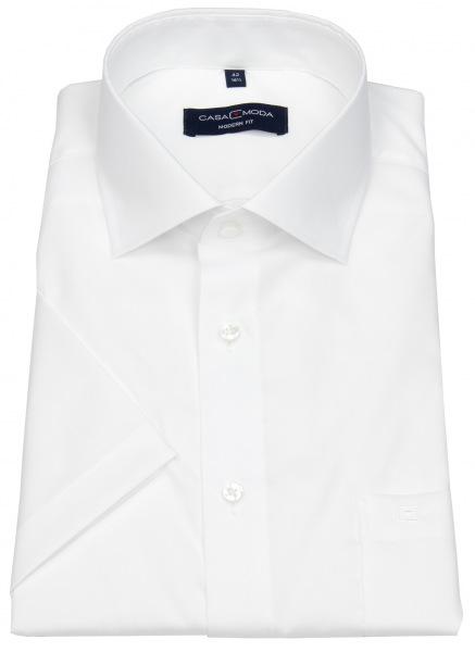 Casa Moda Kurzarmhemd - Modern Fit - weiß - 008530 000
