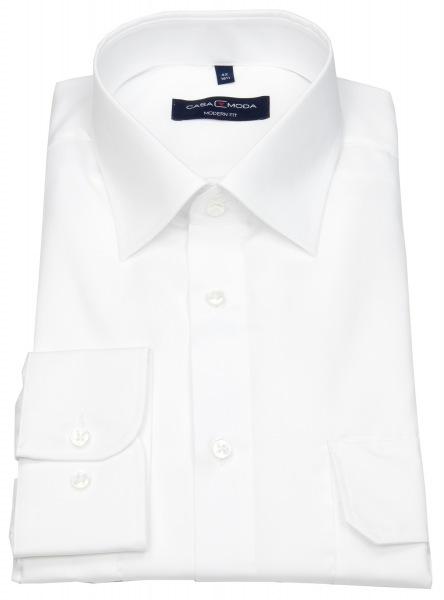 Casa Moda Pilotenhemd - Modern Fit - weiß - 006920 000