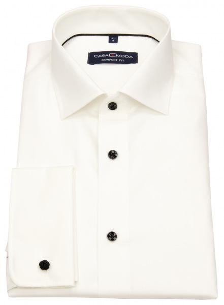 Casa Moda Smokinghemd - Comfort Fit - Kontrastknöpfe - UMA - creme - ohne OVP - 005380 003