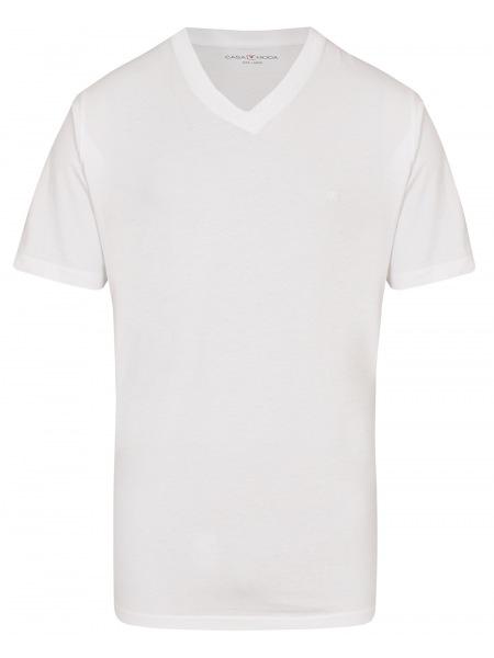 Casa Moda T-Shirt Doppelpack - V-Neck - weiß - 092600 000