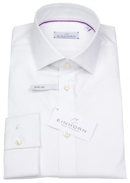 Einhorn Hemd - Body Fit Stretch - weiß - 516.11174 1
