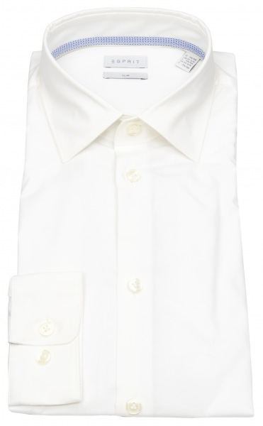 Esprit Hemd - Slim Fit - Kentkragen - weiß - 998EO2F801 100