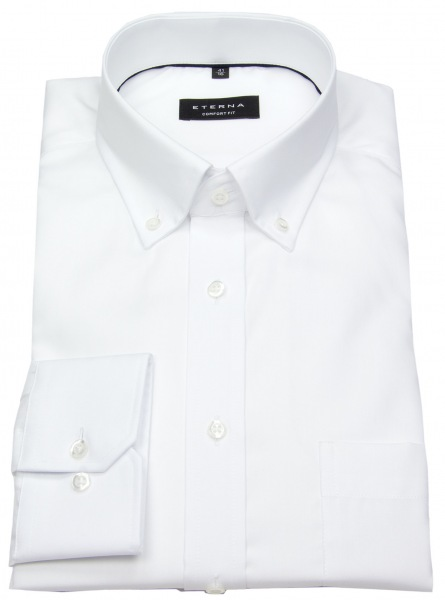 Eterna Hemd - Comfort Fit - Button Down - Oxford - weiß - 8100 E194 00