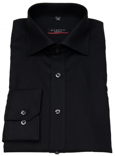 Eterna Hemd - Modern Fit - ohne Brusttasche - schwarz - 1100 X177 39