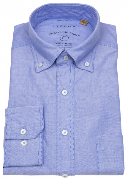 Eterna Hemd - Regular Fit - Button Down - We Care - hellblau - 2411 VS9B 15
