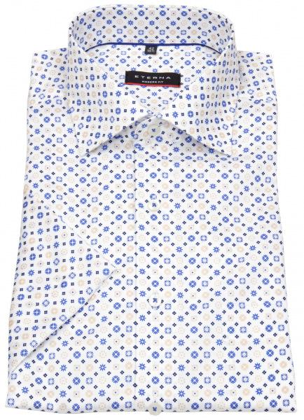 Eterna Kurzarmhemd - Modern Fit - Muster - champagner - 3457 C19K 22