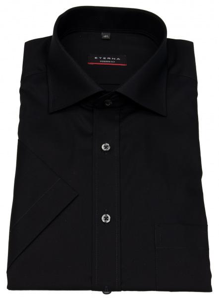 Eterna Kurzarmhemd - Modern Fit - schwarz - 1100 C187 39