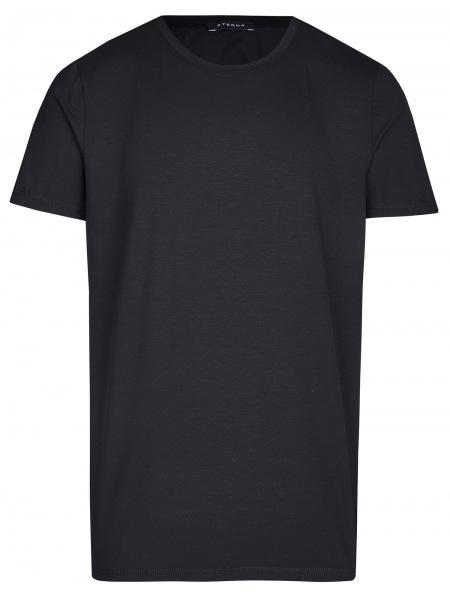 Eterna T-Shirt - Rundhals -Ausschnitt - schwarz - 801 Al=AC 39