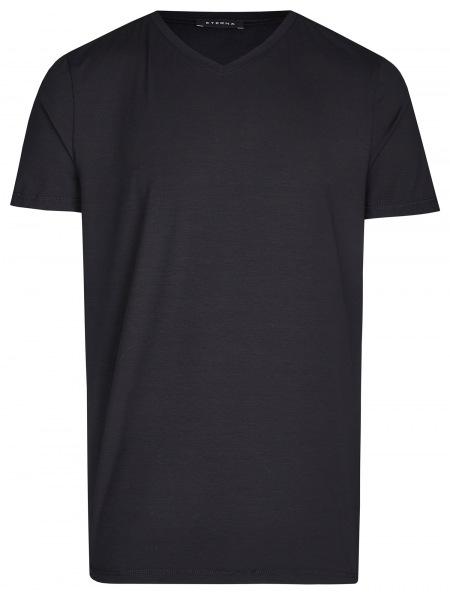 Eterna T-Shirt - V-Ausschnitt - schwarz - 800 Al=AC 39
