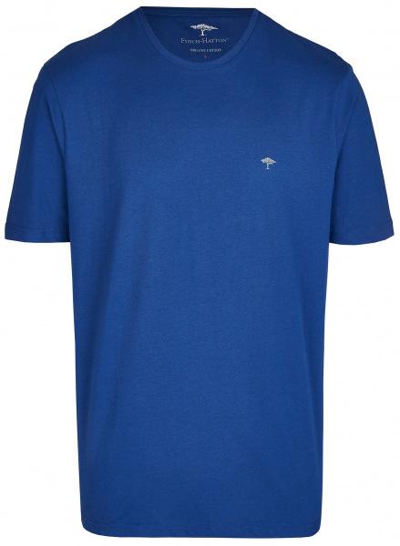 Fynch-Hatton T-Shirt - Casual Fit - Rundhals - blau - SNOS1500 672