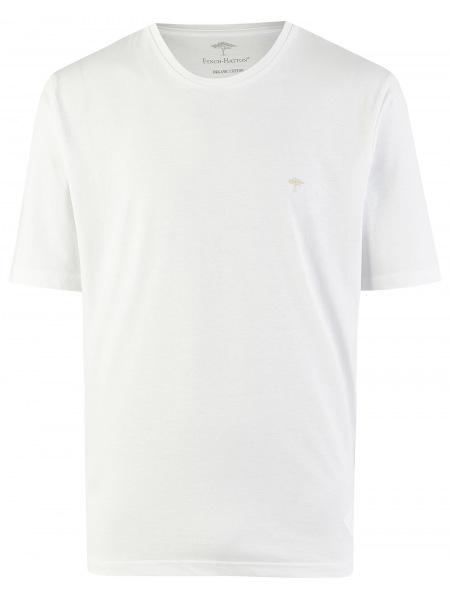 Fynch-Hatton T-Shirt - Casual Fit - Rundhals - weiß - SNOS1500 802
