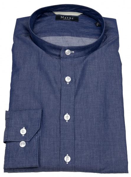 MAERZ Muenchen Hemd - Regular Fit - Stehkragen - blau - 713300 399