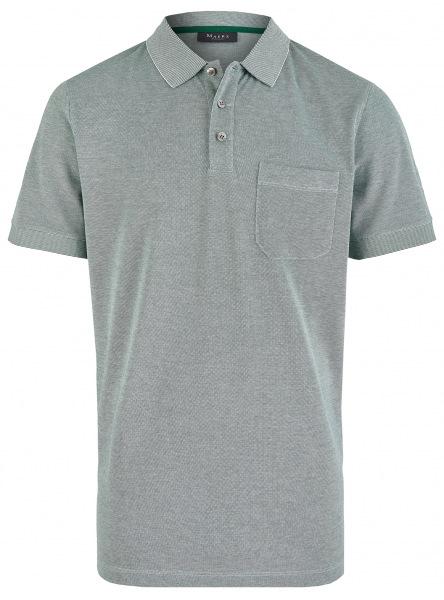 MAERZ Muenchen Poloshirt - Regular Fit - Baumwolle - grün meliert - 663500 278