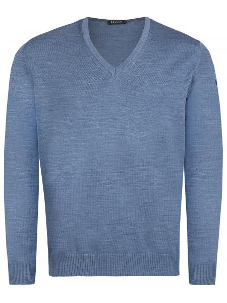 MAERZ Muenchen Pullover - Comfort Fit - V-Ausschnitt - hellblau - 490400 316